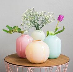 Dew glass vases are designed by Kristine Five Melvær. The vases are mouth blown by glassblowers who are proud of their work, in sober colours with matte Norway Design, Glass Vase, Furniture Design, Pastel, Colours, Interior Design, Flowers, Diy, Random
