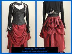 Victoriaanse costuum, rok en bolero gemaakt van een Simplicity patroon nr 1819