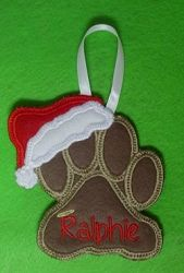 Dog Ornament - 2 Sizes! | Tags | Machine Embroidery Designs | SWAKembroidery.com Band to Bow