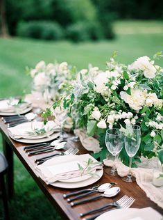 White and Green Summer Wedding Flowers