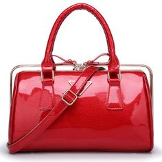 The 2014 summer patent leather fashion female bag hand the bill of lading shoulder bag Jelly candy color bag red women clutch € 50,93
