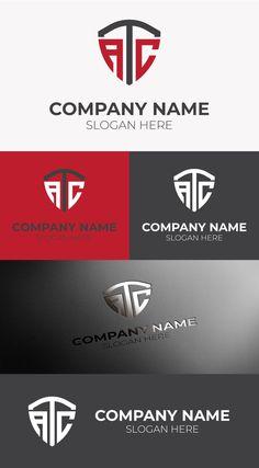 ATC LOGO FREE TEMPLATE Company Slogans, Company Names, Letter Logo, Monogram Letters, Free Logo Templates, Great Logos, Atc, Mockup, Vector Free