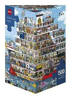 Puzzle 1500 CARTOON (τρίγωνο κουτί) Lyon - Κρουαζιέρα