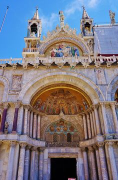 St Mark's Basilica. Venice, Italy. Crazy I got to see this and would love to see it again.