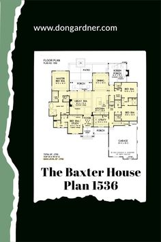 The Baxter house plan 1536 is now available! This rustic cottage features a stone and cedar shake facade accented with vertical boards and decorative gable brackets. The floor plan is thoughtfully arranged with an island kitchen opening to a cozy great room and a spacious dining area. A rear porch with skylights takes living outdoors and a screened porch with a fireplace is ideal for cooler months. #wedesigndreams #cottagehouseplan Country Style House Plans, Craftsman Style House Plans, Cottage House Plans, Gable Brackets, Slab Foundation, Space Shows, One Story Homes, Skylights, Rustic Cottage