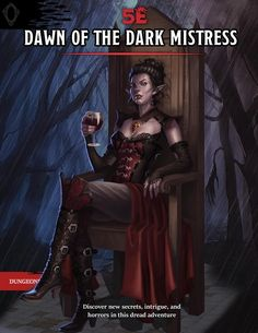 [Art] Cover art of the Dawn of the Dark Mistress campaign (see comments) : DnD