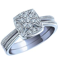 I have found the ring my heart wants!   Endless Love® 0.20 Carat TW, 10k White Gold Diamond Engagement Ring Set