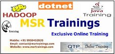 MSR Trainings: is a brand and providing quality Manual Testing online training with experiance faculty with online support for students and employees in world wide.  MSR Trainings providing Best Manual Testing Online Training in Hyderabad,India, USA, UK, Australia, New Zealand, UAE, Saudi Arabia,Pakistan, Singapore, Kuwait.