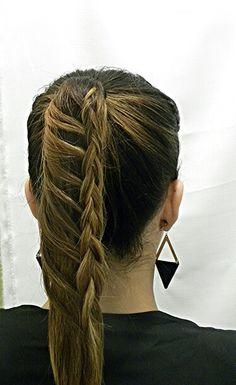 Braids, Ponytail Ideas, Brunette  Ombre www.hairdesigners.ca Ponytail Ideas, Brunette Ombre, Something Beautiful, Hair Designs, Hair Ideas, Braids, Designers, Dreadlocks, Hair Styles