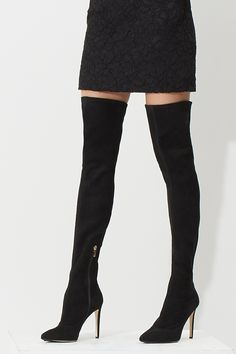 Stand tall in over-the-knee boots from #SergioRossi and more. #10022Shoe