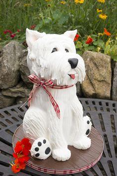 West Highland Terrier Dog - Cake by Paul Bradford Sugarcraft School