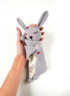 Crochet Security Blanket, Crochet Lovey, Baby Security Blanket, Lovey Blanket, Crochet Bunny, Crochet Gifts, Crochet Toys, Bunny Toys, Baby Bunnies