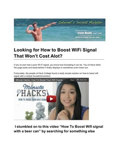 how-to-boost-wifi-signal-with-a-beer-can by scottzlateff via Slideshare
