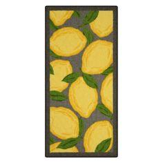 Best Threshold™ Lemons Kitchen Rug Gray Yellow Kitchen 400 x 300