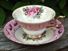 Spectacular Vintage Royal Ainsley Pink Teacup by HappyGalsVintage