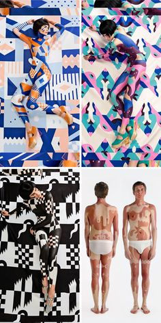 Pattern Pulp: Two incredible artists, Janine Rewell and Minna Parikka recently joined forces to create a campaign including body paint, shoes, graphic patterns and naked models. The result are show-stopping.