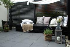 therese romell: Så här byggde vi vår dagbädd black and white terrace
