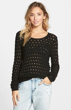 RVCA 'Breezy' Open Knit Sweater available at #Nordstrom