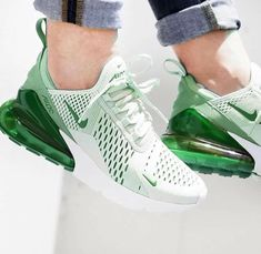 Green Nike Air Max 270 I wear green shoes on days when I'm feeling mean. Find Men's & Women's Air Max 270 Shoes and other classic Nike Air Max shoes. i just cant get enough of these addicted! i just cant get enough of these addicted! My favorite color Cute Sneakers, Shoes Sneakers, Ladies Sneakers, Sneakers Style, Shoes Style, Women's Shoes, Basket Style, Nike Air Shoes, Green Nike Shoes