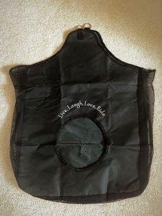 "Hay Bag/Mesh Sides/Black/Embroidered Saying ""Live, Laugh, Love""/Personalized Horse Saddle Pads, Horse Saddles, Mesh, Horses, Sayings, Live, Black, Saddles, Lyrics"