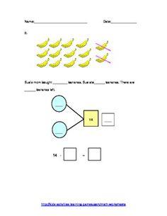 math worksheet : singapore math subtraction word problems using number bonds grade  : Singapore Maths Worksheets