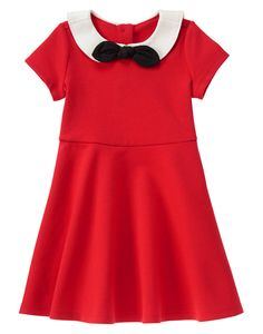 Olivia Ponte Dress at Gymboree Little Girl Outfits, Little Girl Fashion, Toddler Fashion, Kids Fashion, Fashion Outfits, Toddler Dress, Toddler Outfits, Kids Outfits, Baby Girl Closet
