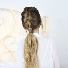 how to dutch braid ponytail