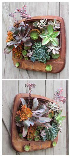 Planted TV #Garden, #Repurposed, #Vertical