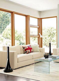 Floor to ceiling windows, please. Simple design but look good