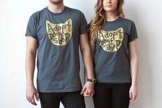 Gato camiseta adoptar no comprar T Shirt camiseta para