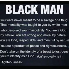 Empowerment for Black Men By Any Means Necessary, Black King, Black History Facts, Black Pride, My Black Is Beautiful, African History, Black Power, Looks Cool, Queen