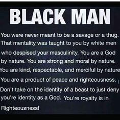 Dear black man,