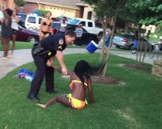Posting a fiery rant on her personal Facebook page defending the police officer who confronted a group of teens at a Texas pool party cost Karen Fitzgibbons her teaching job.