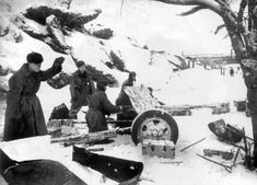 Soviet soldiers fire 45-mm anti-tank gun model 1937 53-K at the German positions on the Volga at Stalingrad.