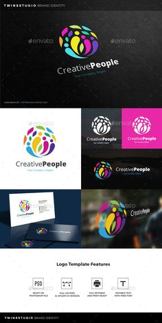 Creative People Logo — Photoshop PSD #modern #technical • Available here → https://graphicriver.net/item/creative-people-logo/17454891?ref=pxcr