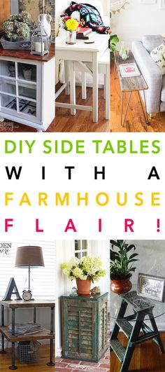 DIY Side Tables with a Farmhouse Flair - The Cottage Market