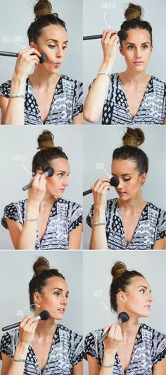 How to apply Bronzer - yay! I've been doing it right!