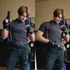Leon Kennedy costest by GraysonFin Male Cosplay, Epic Cosplay, Cosplay Outfits, Awesome Cosplay, Leon S Kennedy, Evil Games, Ada Wong, Fantasy Heroes, Superhero Cosplay