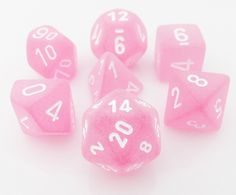 Frosted Dice (Pink) RPG Role Playing Game Dice Set