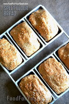 SPELT FLOUR BREAD - Super quick and easy healthy bread. Just mix and bake. Get recipe from: www.FoodForYourGood.com