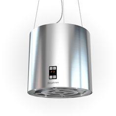 BERGSTROEM Dunstabzugshaube Inselhaube freihängend Edelstahl Silberfarbend 35cm