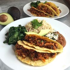 This is an easy upgrade to the typical Taco Tuesday ground beef tacos. Rick Bayless uses tomatoes and sweet spices to flavor the meat (ground pork) as well as nuts and raisins to add contrasting te…