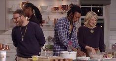 Martha Stewart Makes Fried Chicken with Snoop Dogg, Seth Rogan and Wiz Khalifa