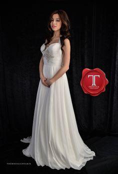 Wedding dress by Tranoulis Haute Couture Photo: Thomas Giannakis Model: Eirini Sterianou One Shoulder Wedding Dress, Wedding Dresses, Model, Fashion, Haute Couture, Mathematical Model, Moda, Bridal Dresses, Alon Livne Wedding Dresses