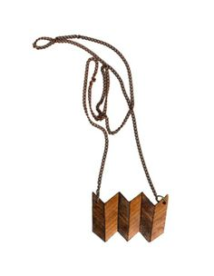 Apartment Therapy Inspiration from Those Impossible Things Blog - Make this Homemade Holiday Gift: Leather Chevron Necklace
