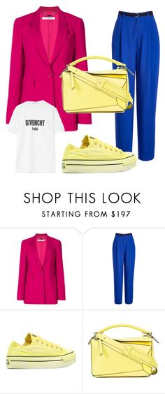 """""""Fresh coat - pink coat"""" by elksyu on Polyvore featuring мода, Givenchy, Joseph, Converse и Loewe"""