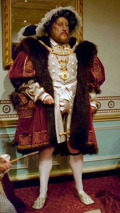 Wax figure of Henry VIII at Madame Tussauds London