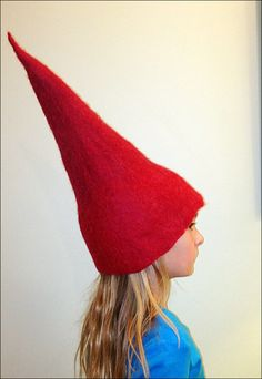 Red Wool Hat, Red Wool Gnome Hat. $45.00, via Etsy.
