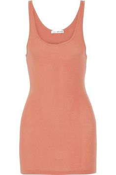 James Perse - The Daily Ribbed Stretch Supima Cotton Tank - Coral - 3