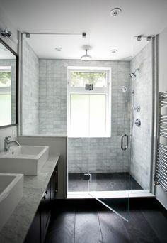 Modern Farmhouse, Rustic Modern, Classic, light and airy bathroom design ideas. Bathroom makeover ideas and bathroom remodel ideas. Bathroom Windows, Bathroom Renos, Bathroom Renovations, Bathroom Interior, Bathroom Mirrors, Bathroom Cabinets, Seashell Bathroom, Bathroom Black, House Renovations